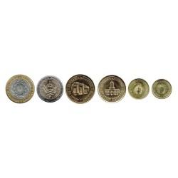 Argentina 2009 - 2011 6 valores (5,10,25,50 Centavos, 1 y 2 Pesos) S/C