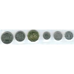 Belice 1991 - 2003 6 valores (1,5,10,25 y 50 Centavos. 1 Dólar) S/C