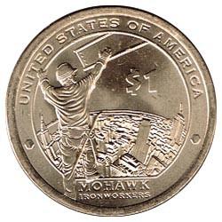 Estados Unidos 2015 1 dólar Sacagawea P. Mohawk, Trabajadores del metal S/C