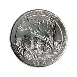 Estados Unidos (Parques) 2010 1/4 Dólar P (Yellowstone) S/C
