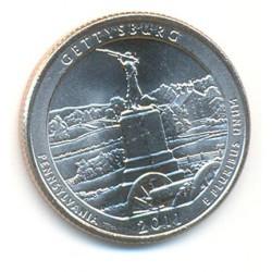 Estados Unidos (Parques) 2011 1/4 de Dólar. Letra D (Gettyssburg) S/C
