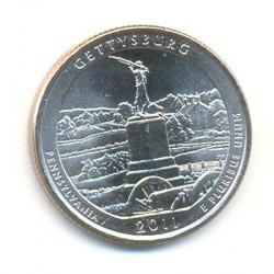 Estados Unidos (Parques) 2011 1/4 de Dólar. Letra P (Gettysburg) S/C