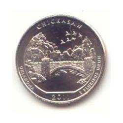 Estados Unidos (Parques) 2011 1/4 de Dólar. Letra D (Chickasaw) S/C