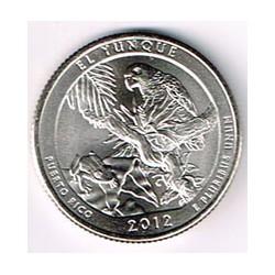 Estados Unidos (Parques) 2012 1/4 de Dólar. Letra P (El Yunque,Pto. Rico) S/C