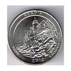 Estados Unidos (Parques) 2012 1/4 Dólar D (Acadia) S/C