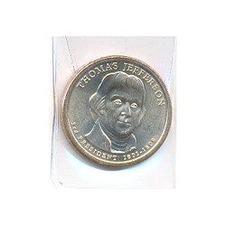 Estados Unidos 1 dólar Presidentes 2007 P .Jefferson (3) S/C