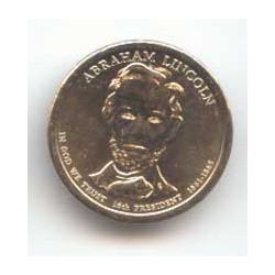 Estados Unidos 1 dólar Presidentes 2010 D Abraham Lincoln (16) S/C