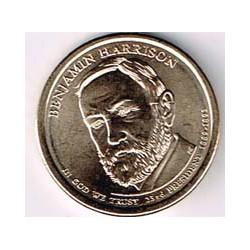 Estados Unidos 1 dólar Presidentes 2012 P .Benjamin Harrison (23) S/C