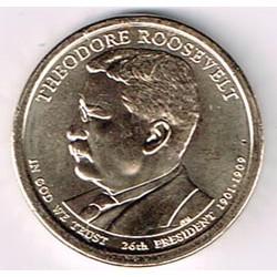 Estados Unidos 1 dólar Presidentes 2013 P .Theodore Rooseevelt (26) S/C