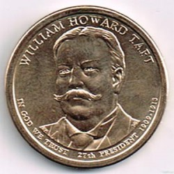 Estados Unidos 1 dólar Presidentes 2013 D .William Howard Taft (27) S/C