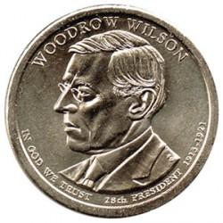 Estados Unidos 1 dólar Presidentes 2013 D .Woodrow Wilson (28) S/C