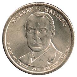 Estados Unidos 1 dólar Presidentes 2014 P .Warren G. Harding (29) S/C