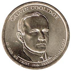 Estados Unidos 1 dólar Presidentes 2014 D .Calvin Coolidge (30) S/C