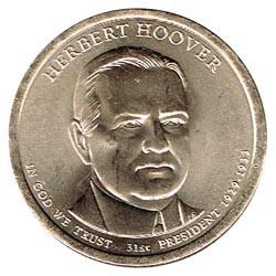 Estados Unidos 1 dólar Presidentes 2014 D .Herbert Hoover (31) S/C