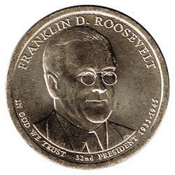 Estados Unidos 1 dólar Presidentes 2014 P .Franklin D. Roosevelt (32) S/C