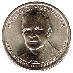 Estados Unidos 1 dólar Presidentes 2015 D .Dwight D. Eisenhower (34) S/C