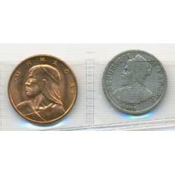 Panamá 1904 - 1961 2 valores (1 y 5 (plata) Cents.) S/C