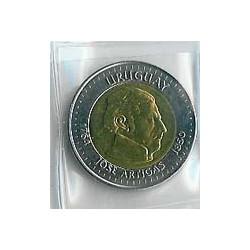 Uruguay 2000 10 Pesos Uruguayos. Bimetálica. S/C