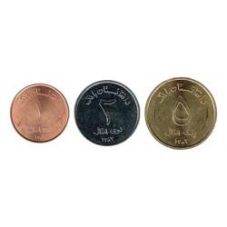 Afganistán 2004 3 valores (1,2 y 5 Afghanis) S/C