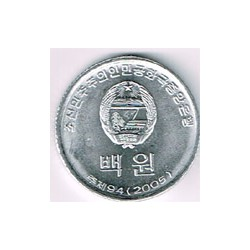 Corea del Norte 2005 100 Won S/C