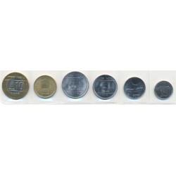 India 1989 - 2009 6 valores (25 y 50 Paisa. 1,2,5 y 10 Rupias.) S/C