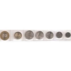 India 1989 - 2009 7 valores (10,25 y 50 Paisa. 1,2,5 y 10 Rupias) S/C
