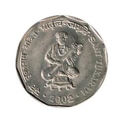 India 2002 2 Rupias (San Tukaram) S/C