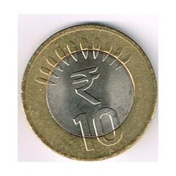 India 2011 10 Rupias (Bimetálica) S/C