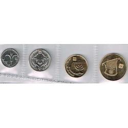 Israel 2001 4 valores (0´10,1/2,1 y 2 Shequel.) S/C