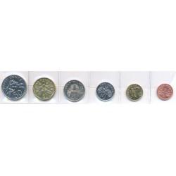 Singapur 1997 - 2005 6 valores (1,5,10,20 y 50 Cent. 1 Dólar.) S/C