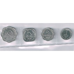 Sri Lanka 1975 -1991 4 valores (1,2,5 y 10 Cents) S/C-