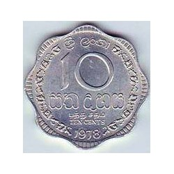 Sri Lanka 1988 - 1991 10 Cents. S/C