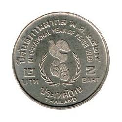 Tailandia 1986 2 Bath (Año de la Paz) S/C