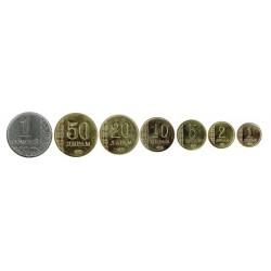 Tajikistán 2011 Tira 7 valores (1,2,5,10,20 y 50 Drams. 1 Somoni.) S/C