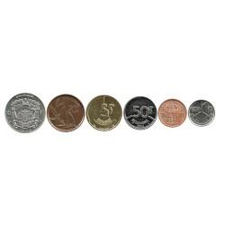 Bélgica 1971 - 1993 6 valores (50 Cents. 1,5,10,20 y 50 Francos) EBC