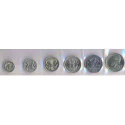 Chipre 1992 -2004 6 valores (1,2,5,10,20 y 50 Cents.) S/C