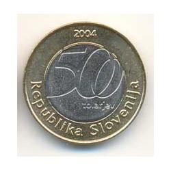 Eslovenia 2004 500 Tolarjev Bimetálica (Jurij Vega) S/C
