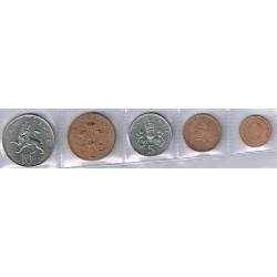Gran Bretaña 1968 - 1971 5 valores (1/2,1,2,5 y 10 pence) S/C-