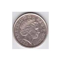 Gran Bretaña 2008 5 Pence (Escudo de Armas) S/C