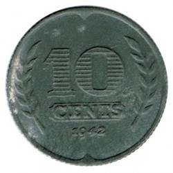 Holanda 1942 10 Cents (Ocupación Alemana) MBC+