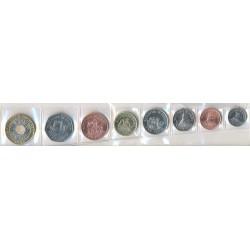 Jersey 1998 - 2008 8 valores (1,2,5,10,25 y 50 Peniques. 1 y 2 Libras) S/C