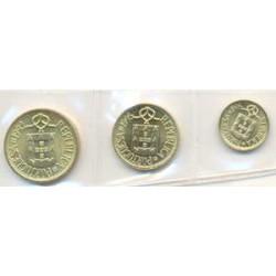 Portugal 1992 - 1995 3 valores (1,5 y 10 Escudos) S/C