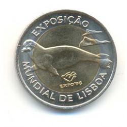 Portugal 1997 100 Escudos Bimetálica (Lobo Marino) S/C-