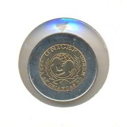 """Portugal 1999 100 Escudos Bimetálica (Unicef """"Portugusa"""") S/C"""