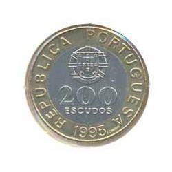 Portugal 1995 200 Escudos Bimetálica (50º Aniversario de la Onu) S/C