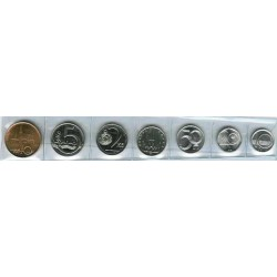 Rep. Checa 1993 - 2003 7 valores (10,20 y 50 Halerus 1,2,5 y 10 Coronas) S/C
