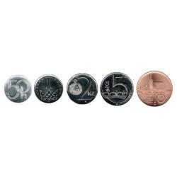 Rep. Checa 2007 - 2011 5 valores (50 Halerus,1,2,5 y 10 Coronas) S/C