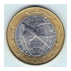 San Marino 2000 1.000 Liras (Bimetálica) S/C