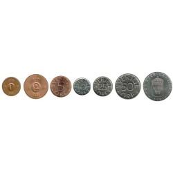 Suecia 1952 - 2009 7 valores (1,2,5,10,25,50 Ores y 1 Corona) S/C