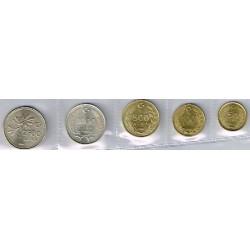 Turquía 1990 - 1993 5 valores (50,100,500,1.000 y 2.500 Liras) S/C